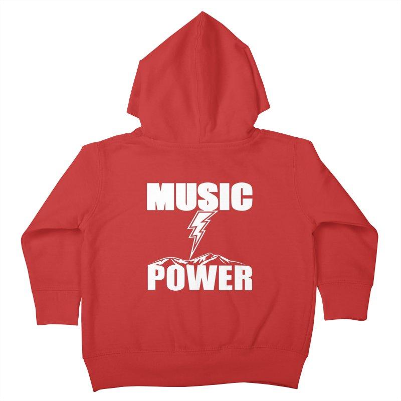 MUSICANDPOWER Big Logo (White) Kids Toddler Zip-Up Hoody by HiFi Brand