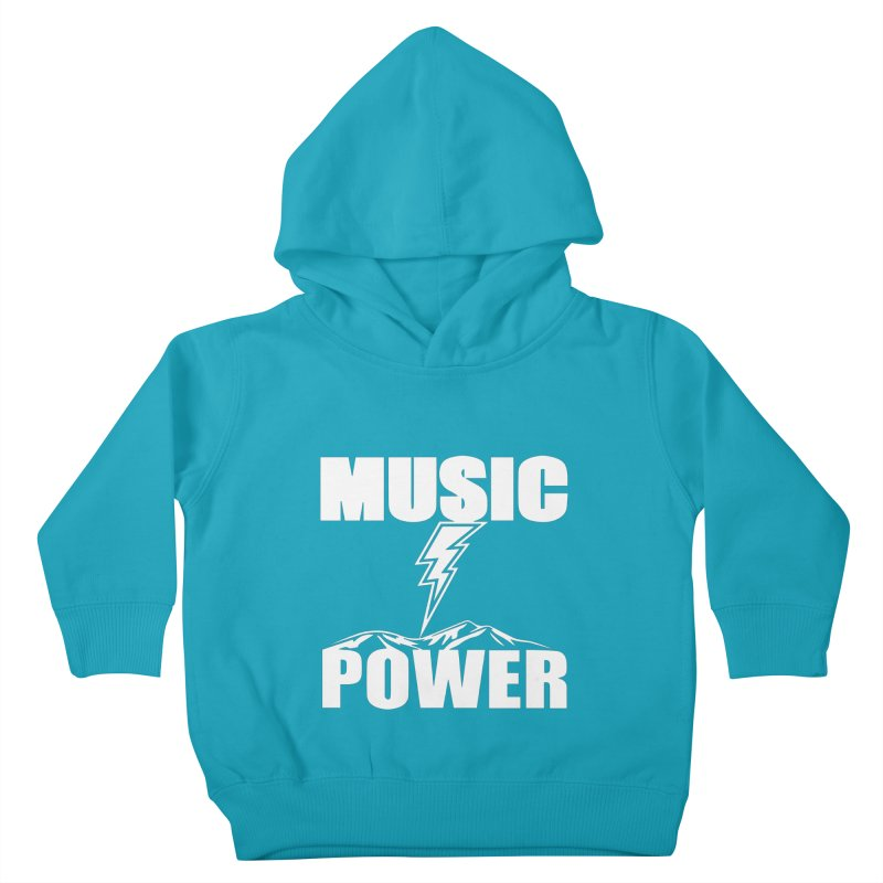 MUSICANDPOWER Big Logo (White) Kids Toddler Pullover Hoody by HiFi Brand