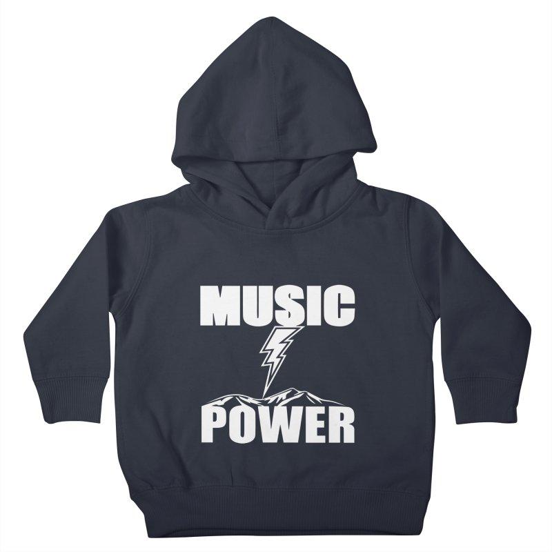 MUSICANDPOWER Big Logo (White) Kids Toddler Pullover Hoody by HiFi Brand