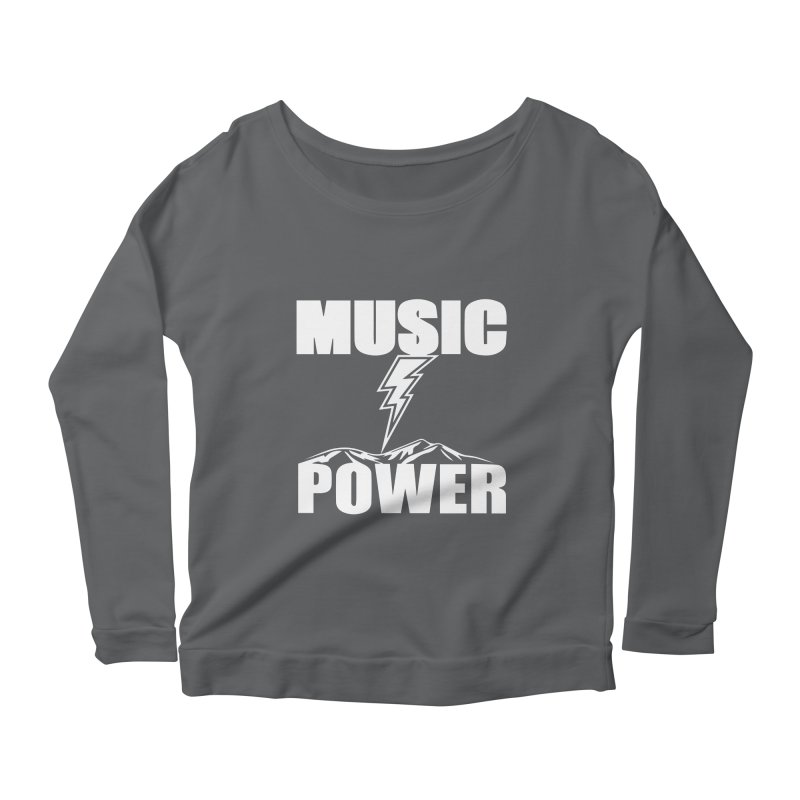 MUSICANDPOWER Big Logo (White) Women's Longsleeve T-Shirt by HiFi Brand