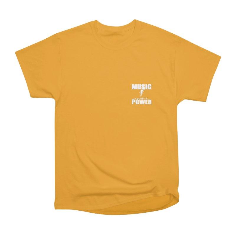 MAP Small Logo (White) Men's Heavyweight T-Shirt by HiFi Brand