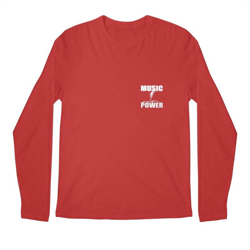 MAP Small Logo (White) Men's Regular Longsleeve T-Shirt by HiFi Brand
