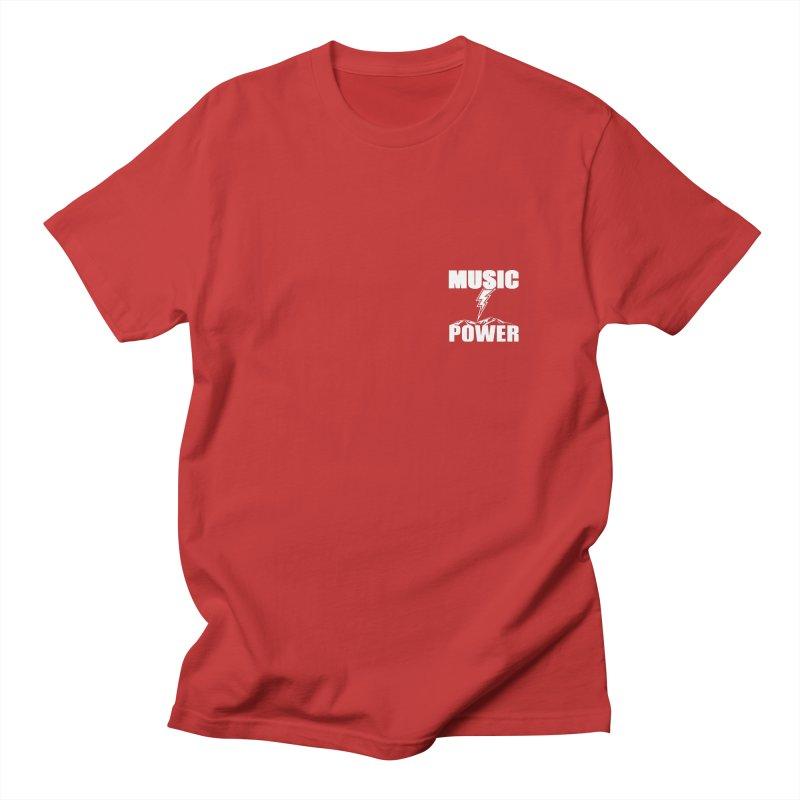 MAP Small Logo (White) Men's T-Shirt by HiFi Brand