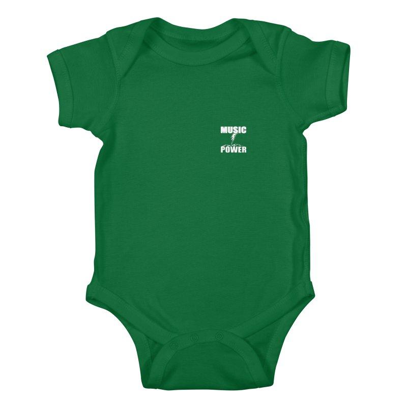 MAP Small Logo (White) Kids Baby Bodysuit by HiFi Brand