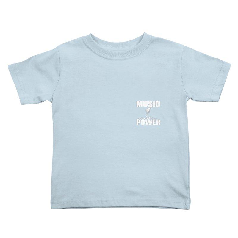 MAP Small Logo (White) Kids Toddler T-Shirt by HiFi Brand