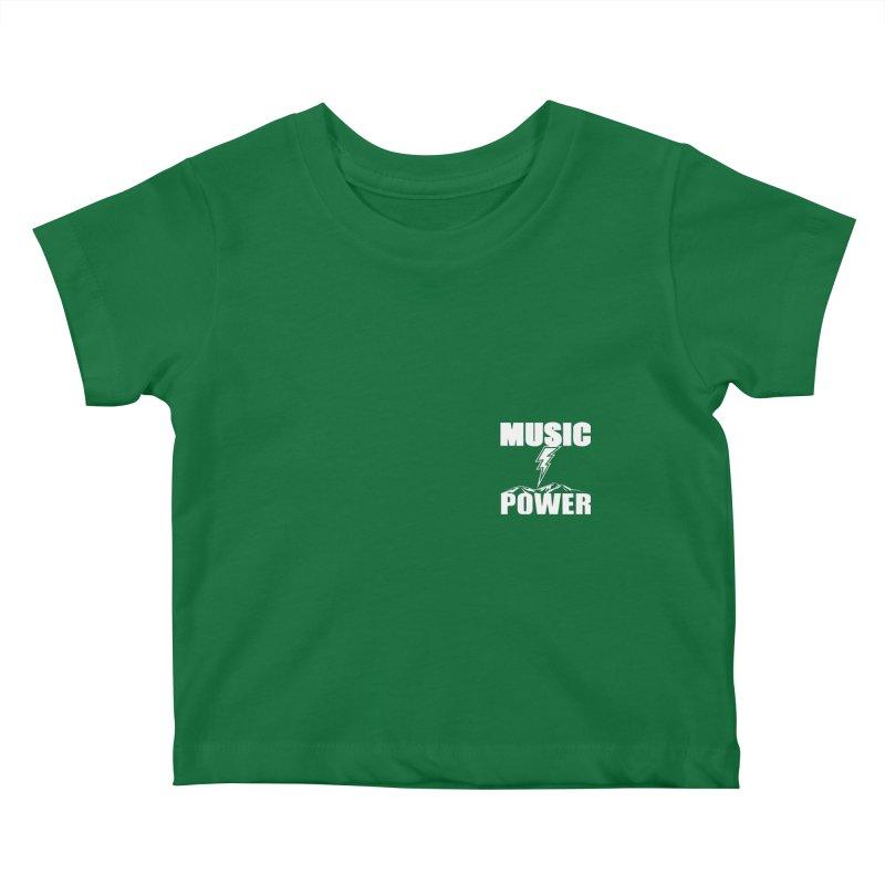 MAP Small Logo (White) Kids Baby T-Shirt by HiFi Brand