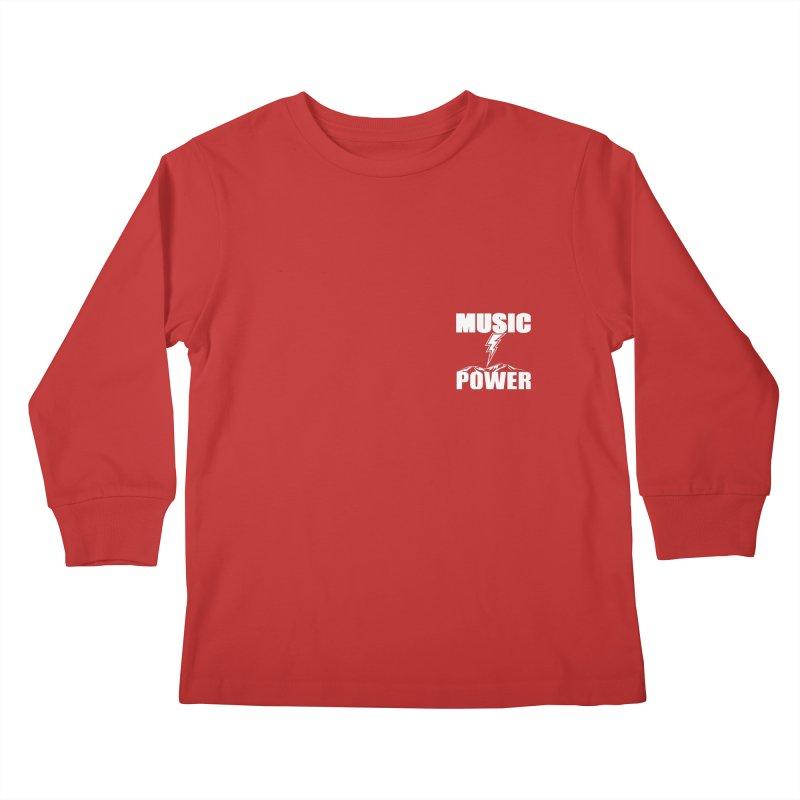 MAP Small Logo (White) Kids Longsleeve T-Shirt by HiFi Brand