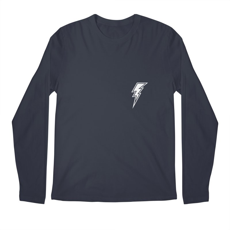 Flash Small Logo (White) Men's Regular Longsleeve T-Shirt by HiFi Brand