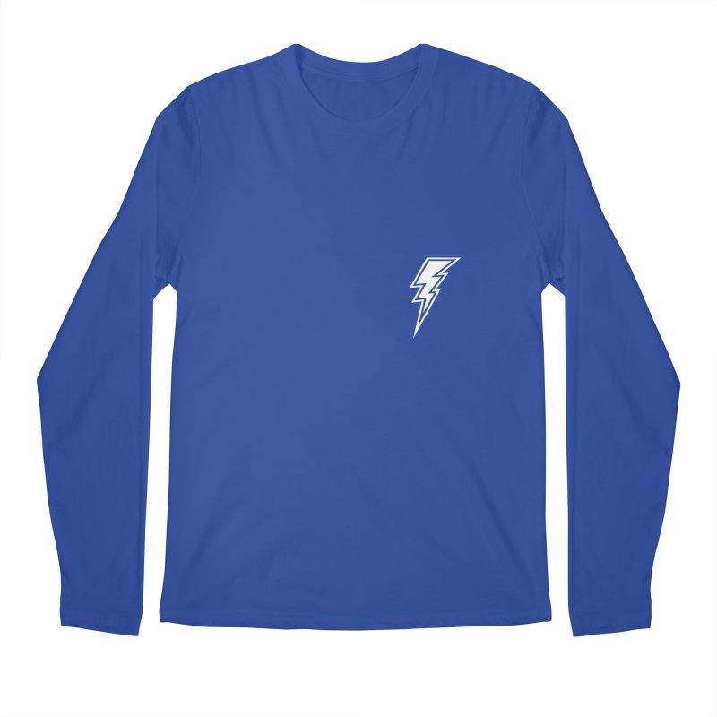 Flash Small Logo (White) Men's Longsleeve T-Shirt by HiFi Brand