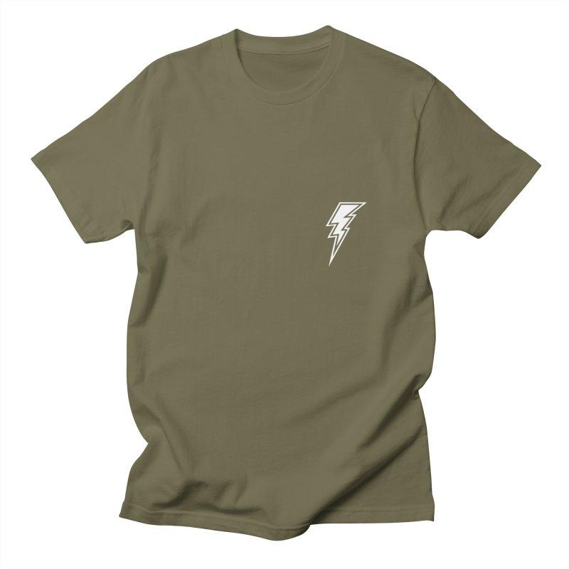 Flash Small Logo (White) Men's T-Shirt by HiFi Brand