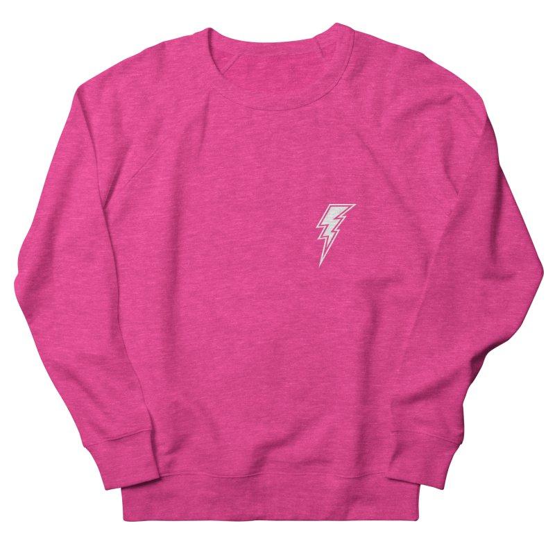 Flash Small Logo (White) Women's French Terry Sweatshirt by HiFi Brand