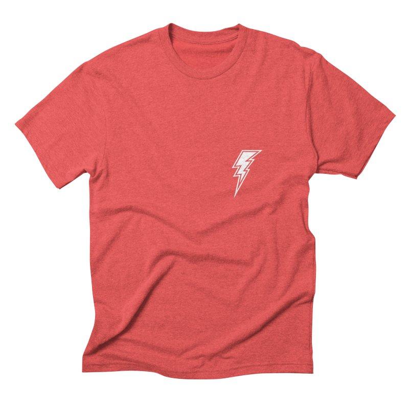 Flash Small Logo (White) Men's Triblend T-Shirt by HiFi Brand