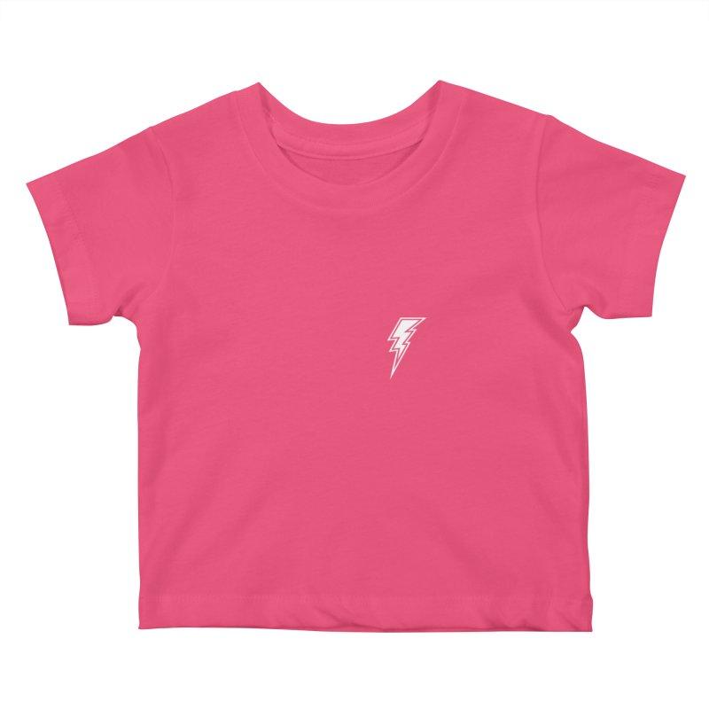 Flash Small Logo (White) Kids Baby T-Shirt by HiFi Brand