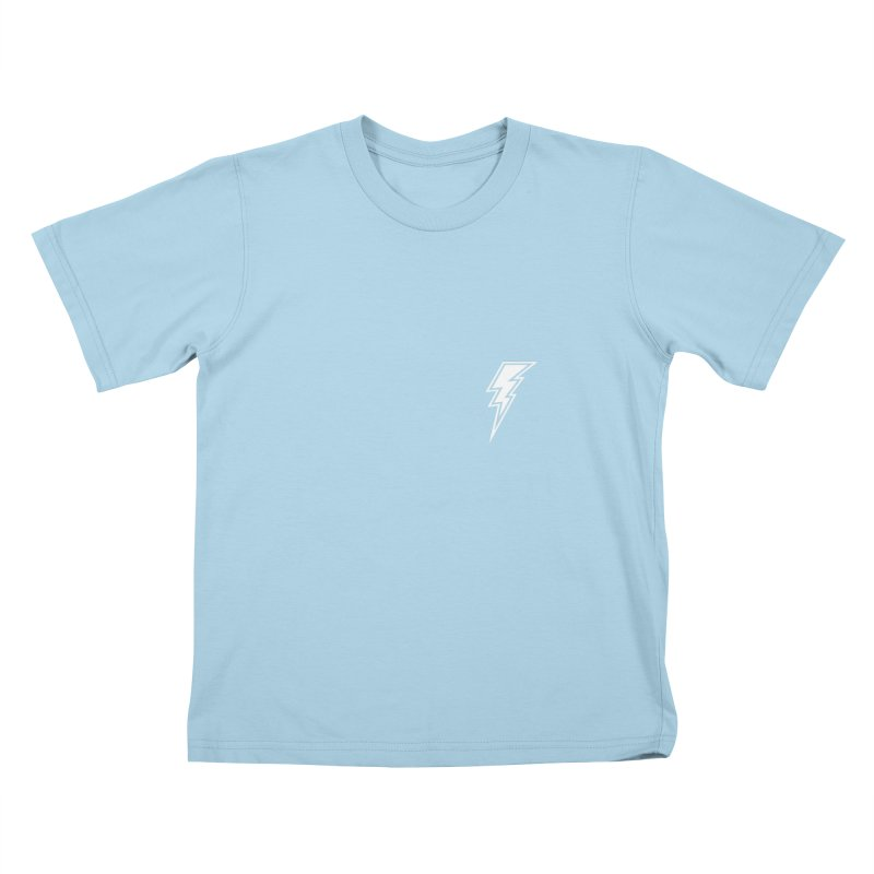 Flash Small Logo (White) Kids T-Shirt by HiFi Brand