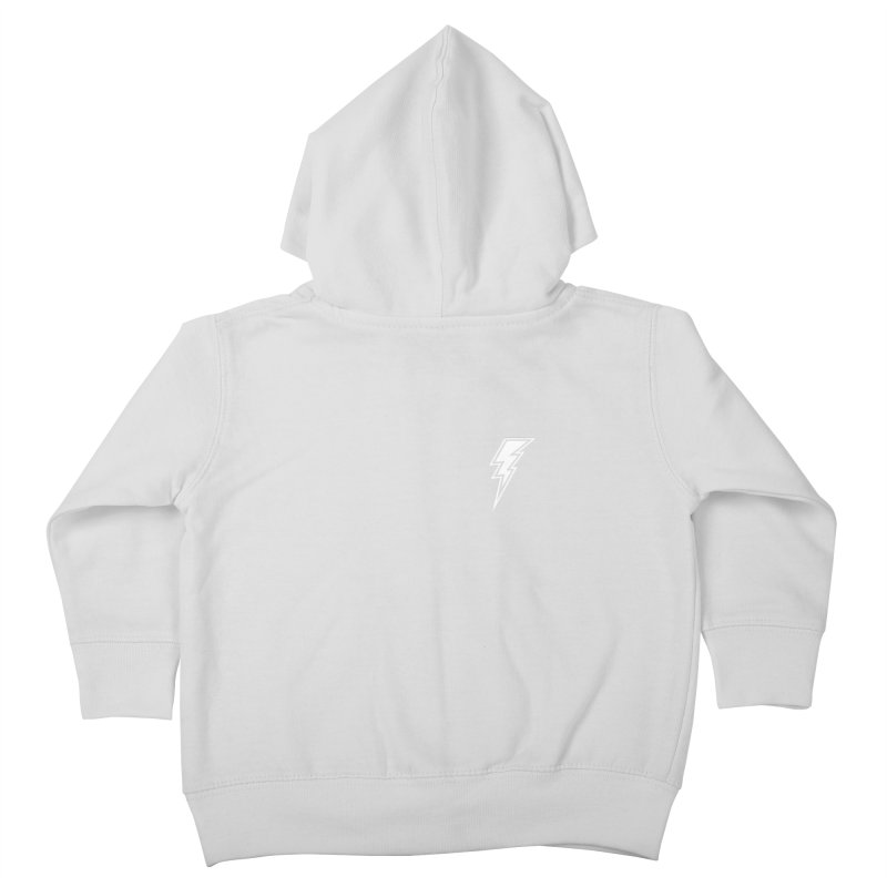 Flash Small Logo (White) Kids Toddler Zip-Up Hoody by HiFi Brand