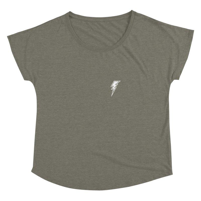 Flash Small Logo (White) Women's Dolman Scoop Neck by HiFi Brand