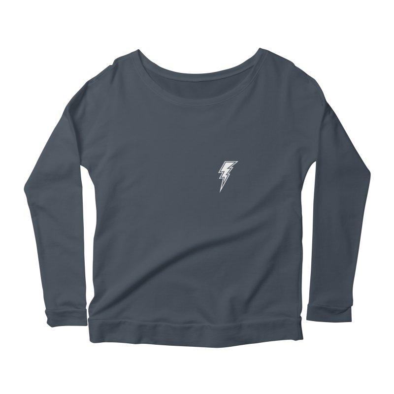 Flash Small Logo (White) Women's Longsleeve T-Shirt by HiFi Brand