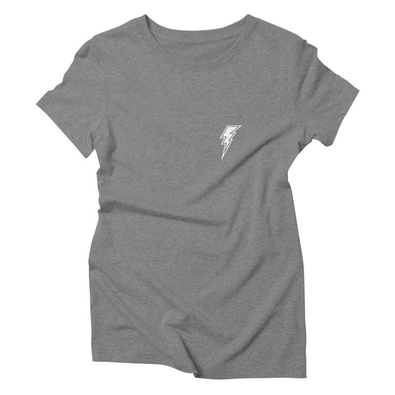 Flash Small Logo (White) Women's Triblend T-Shirt by HiFi Brand