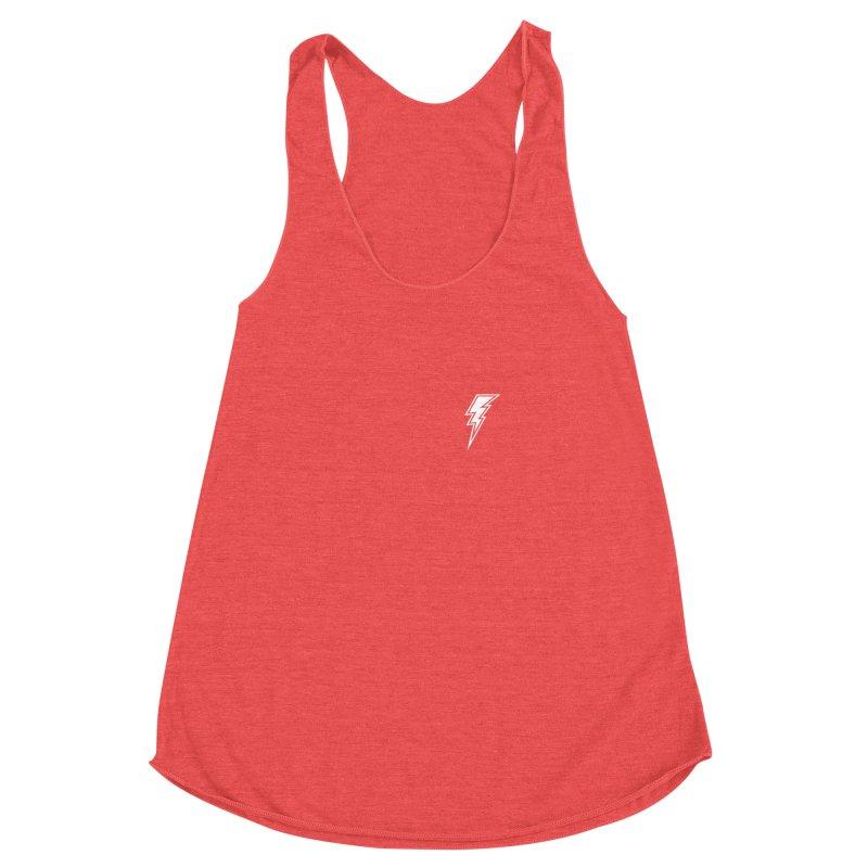 Flash Small Logo (White) Women's Racerback Triblend Tank by HiFi Brand
