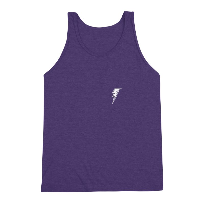Flash Small Logo (White) Men's Triblend Tank by HiFi Brand