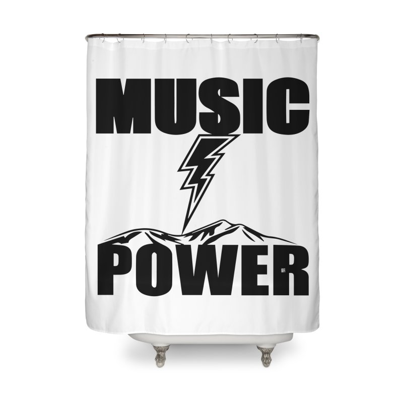 MAP Big Logo (Black) Home Shower Curtain by HiFi Brand