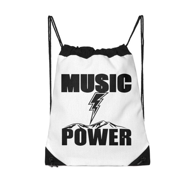 MAP Big Logo (Black) Accessories Drawstring Bag Bag by HiFi Brand