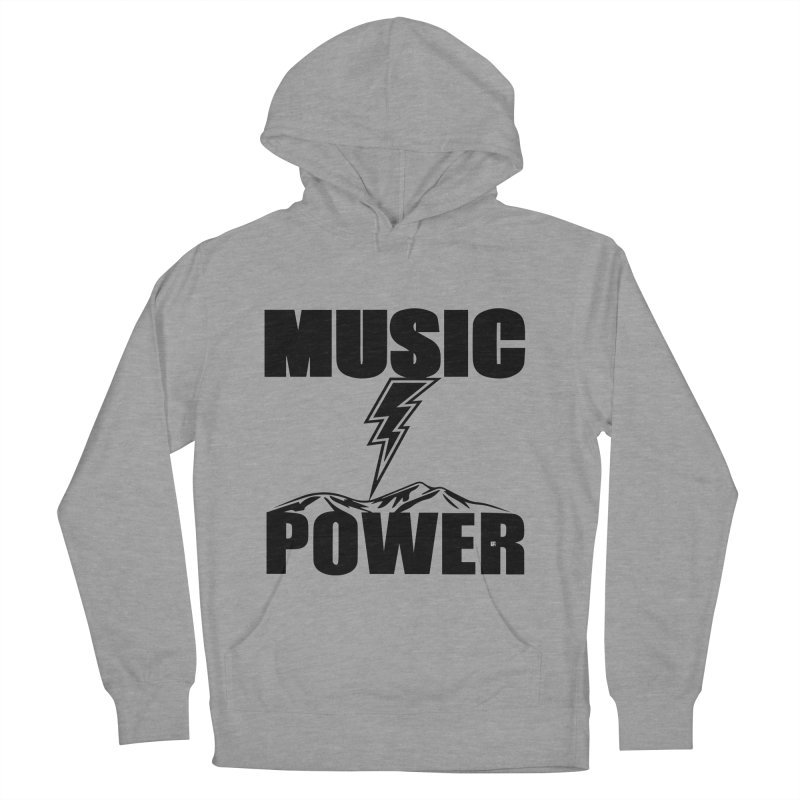 MAP Big Logo (Black) Women's French Terry Pullover Hoody by HiFi Brand