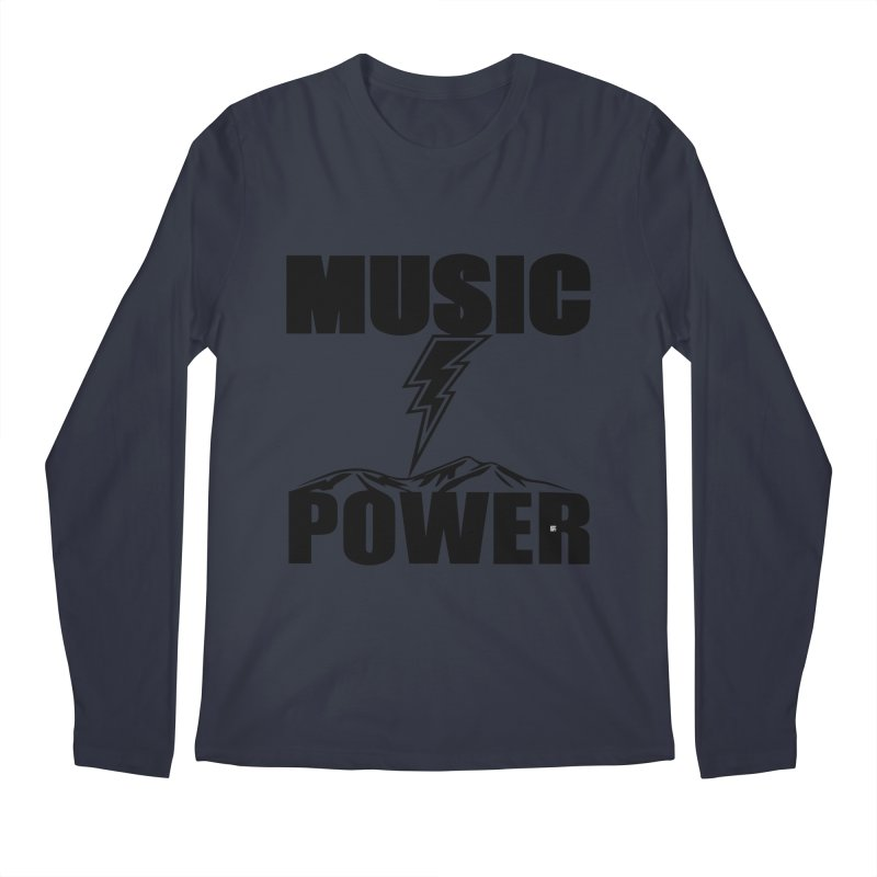 MAP Big Logo (Black) Men's Regular Longsleeve T-Shirt by HiFi Brand