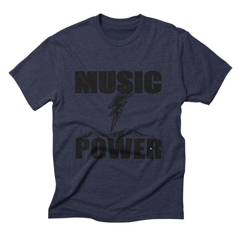 MAP Big Logo (Black) Men's Triblend T-Shirt by HiFi Brand