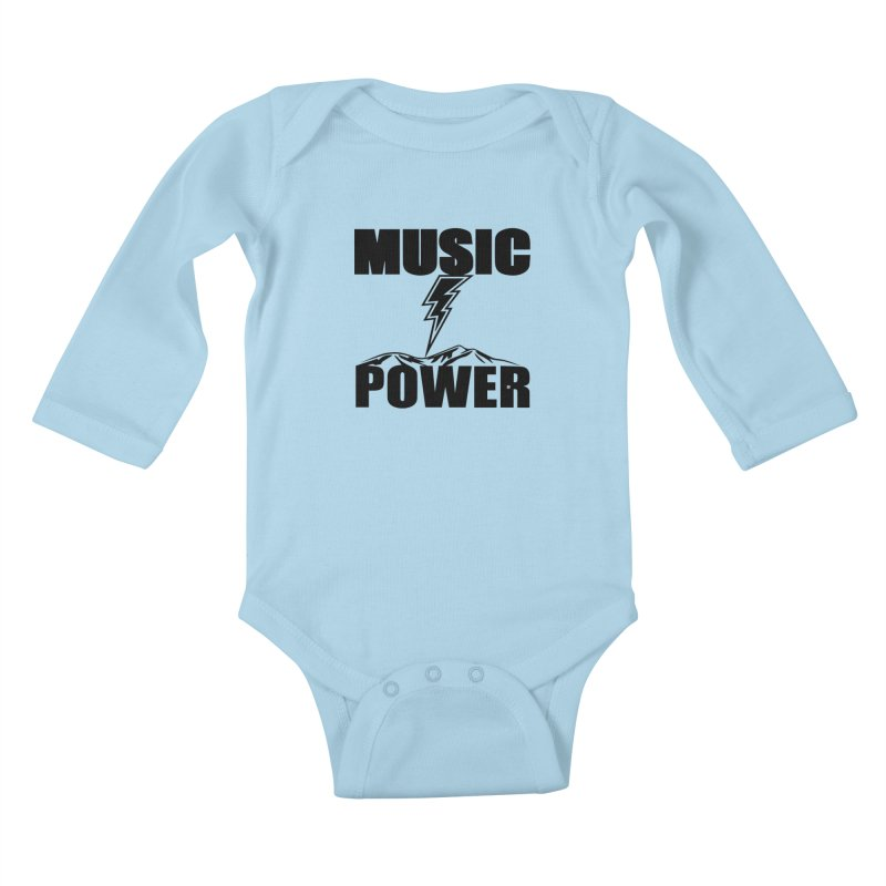 MAP Big Logo (Black) Kids Baby Longsleeve Bodysuit by HiFi Brand