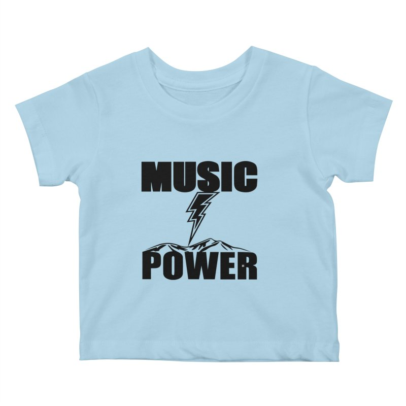 MAP Big Logo (Black) Kids Baby T-Shirt by HiFi Brand