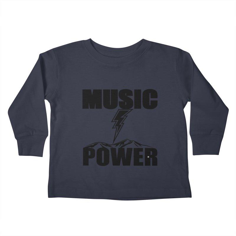 MAP Big Logo (Black) Kids Toddler Longsleeve T-Shirt by HiFi Brand