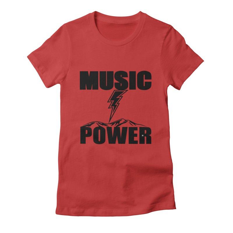 MAP Big Logo (Black) Women's Fitted T-Shirt by HiFi Brand