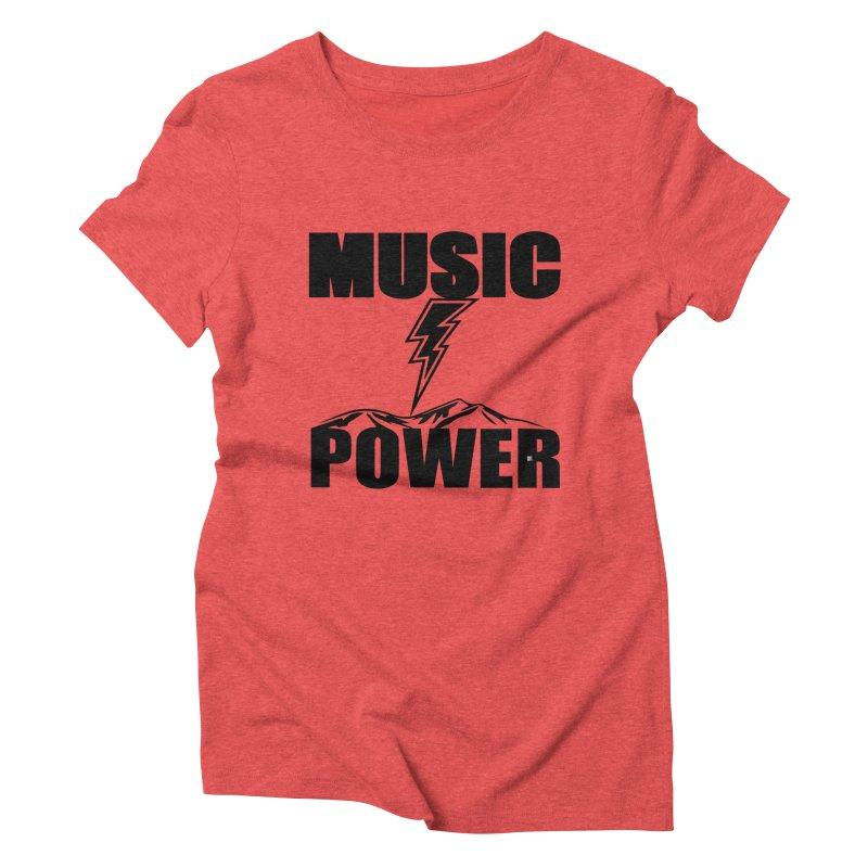MAP Big Logo (Black) Women's Triblend T-Shirt by HiFi Brand