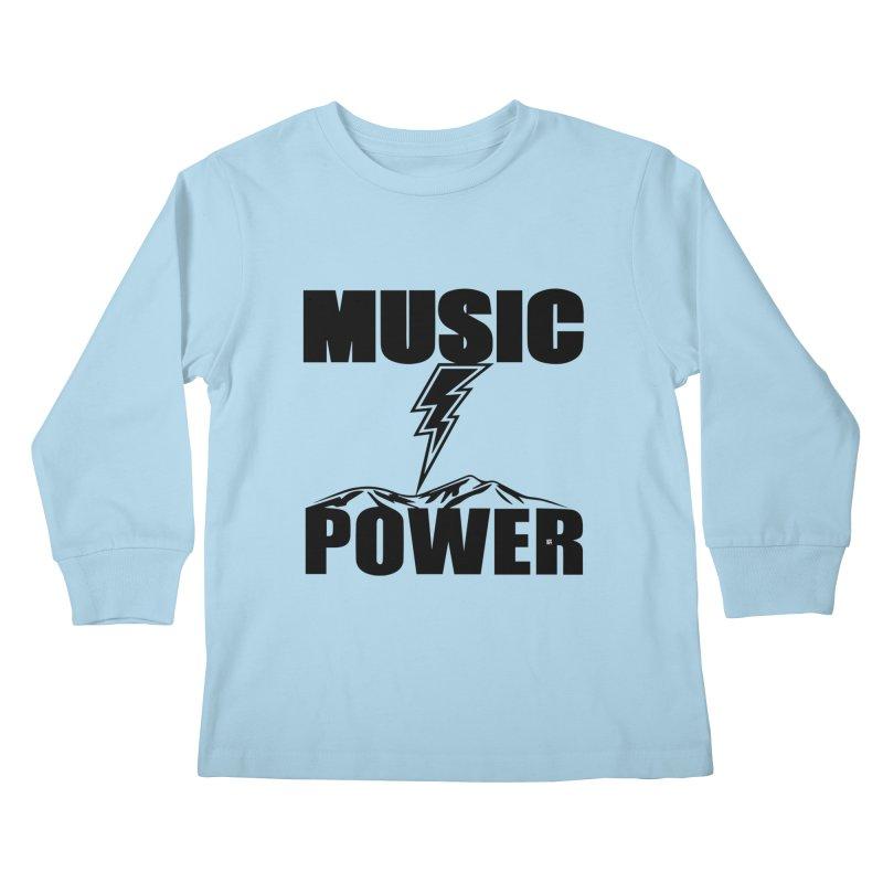 MAP Big Logo (Black) Kids Longsleeve T-Shirt by HiFi Brand