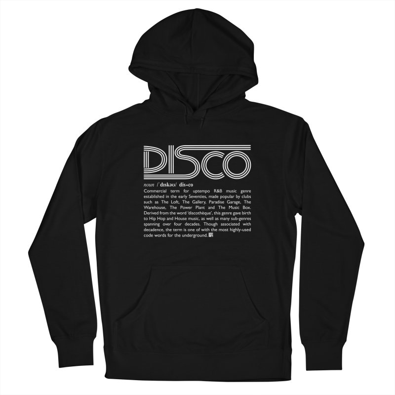 Definitions: Disco (White)  Women's Pullover Hoody by HiFi Brand