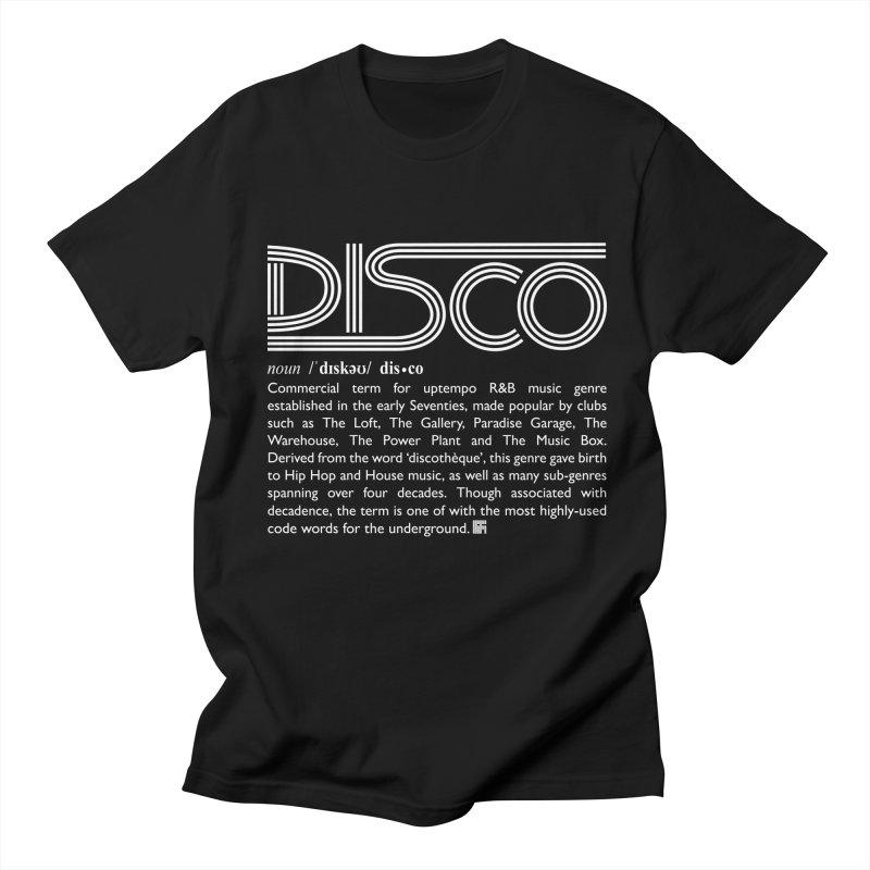 Definitions: Disco (White)  Men's T-Shirt by HiFi Brand