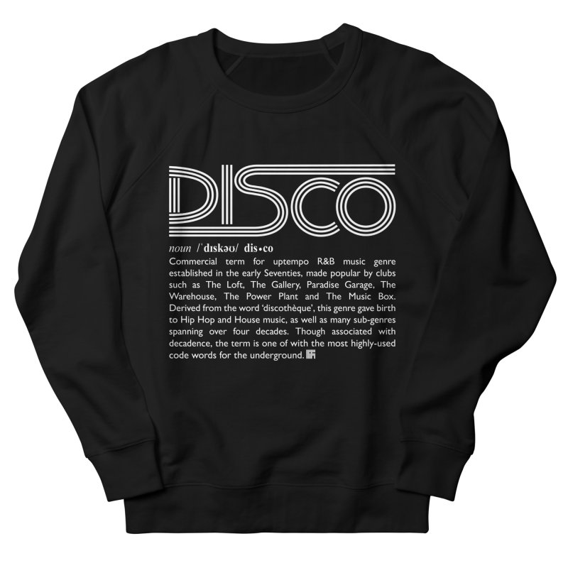 Definitions: Disco (White)  Women's Sweatshirt by HiFi Brand