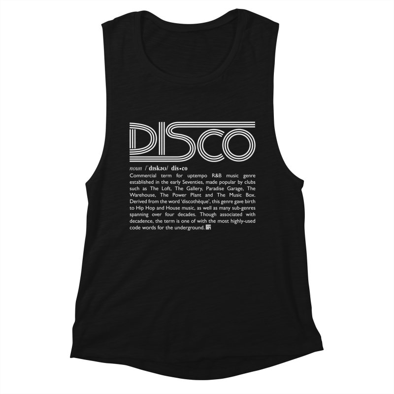 Definitions: Disco (White)  Women's Tank by HiFi Brand