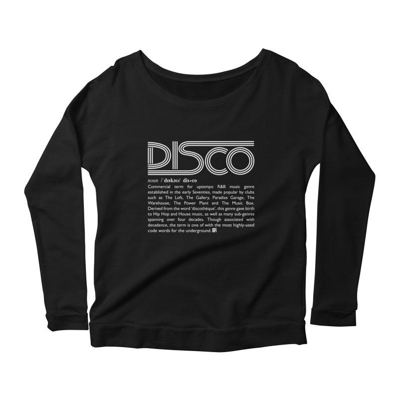Definitions: Disco (White)  Women's Longsleeve T-Shirt by HiFi Brand