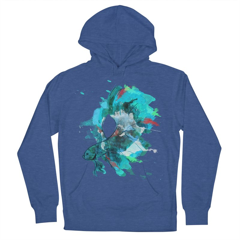 Mr. Betta Women's French Terry Pullover Hoody by The Hidden Squid