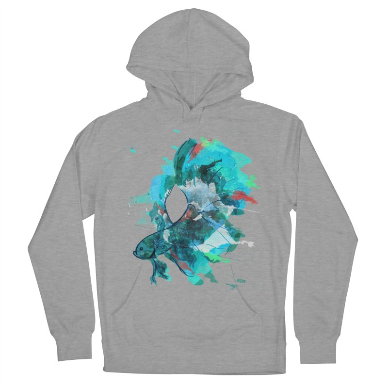 Mr. Betta Men's French Terry Pullover Hoody by The Hidden Squid