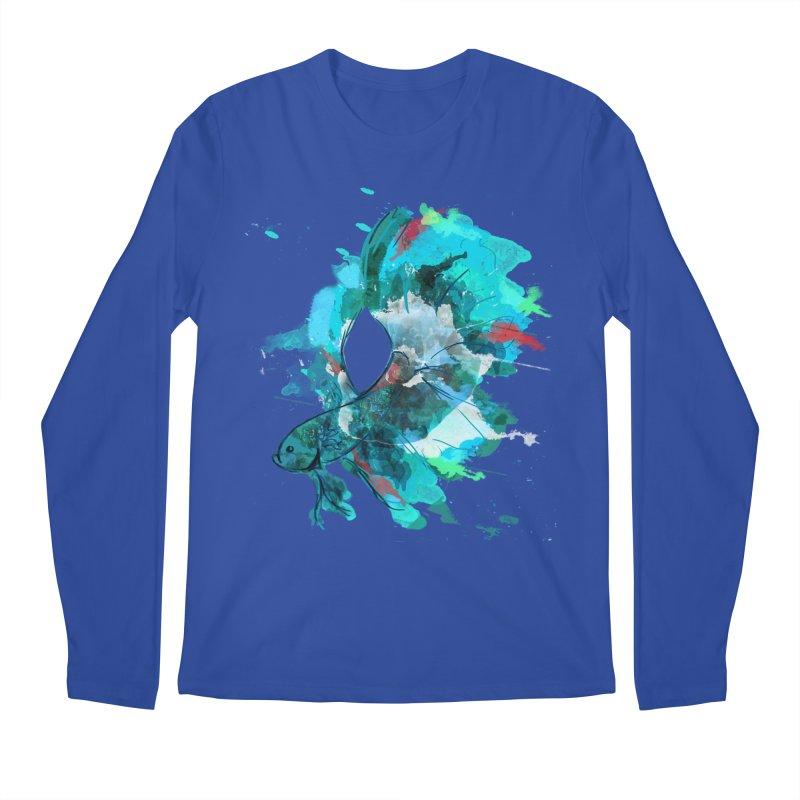 Mr. Betta Men's Longsleeve T-Shirt by The Hidden Squid