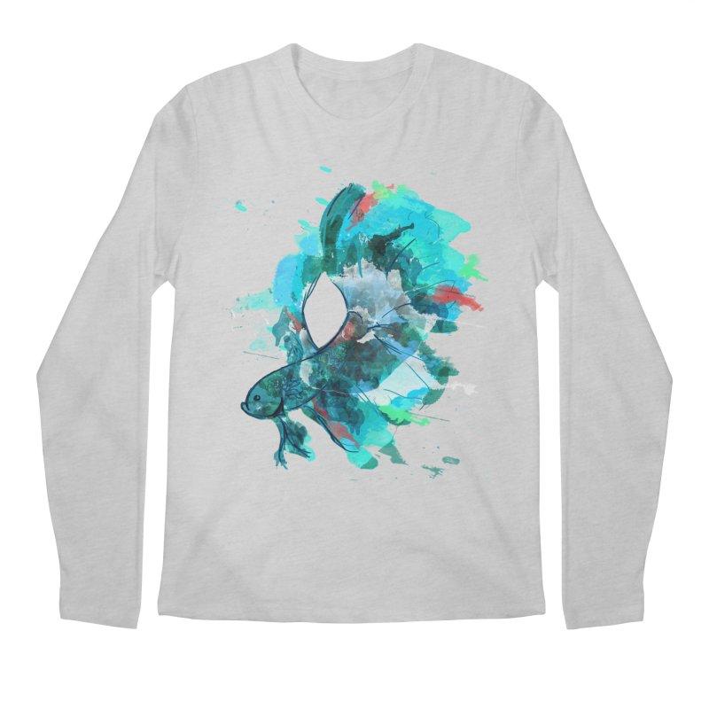 Mr. Betta Men's Regular Longsleeve T-Shirt by The Hidden Squid