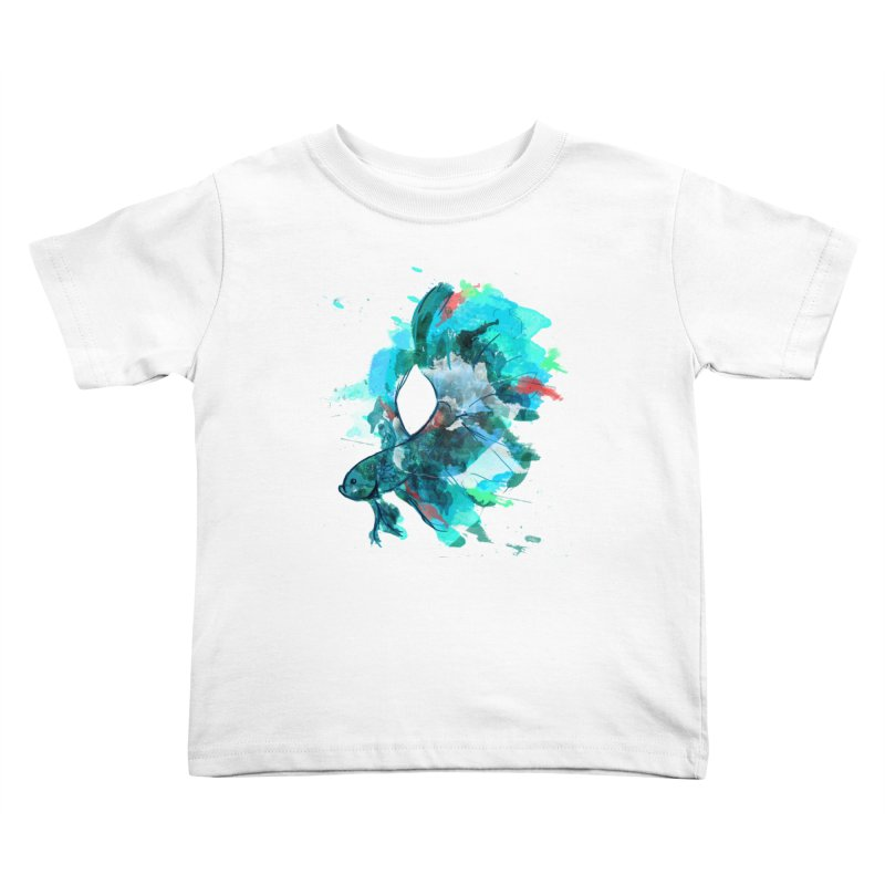 Mr. Betta Kids Toddler T-Shirt by The Hidden Squid