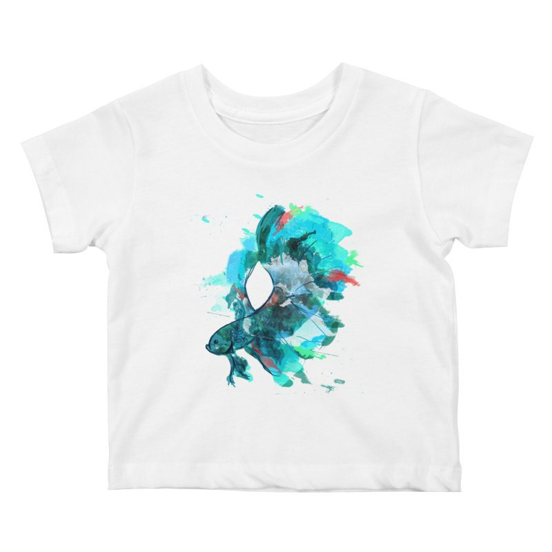 Mr. Betta Kids Baby T-Shirt by The Hidden Squid