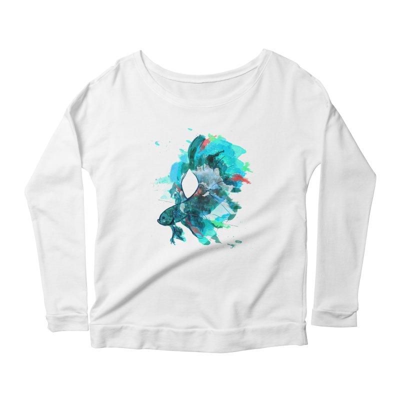 Mr. Betta Women's Scoop Neck Longsleeve T-Shirt by The Hidden Squid