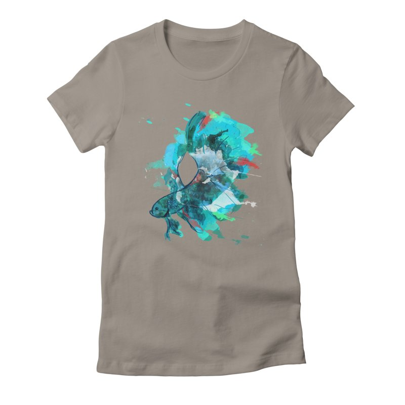 Mr. Betta Women's Fitted T-Shirt by The Hidden Squid