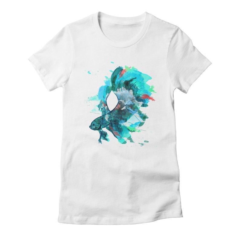 Mr. Betta Women's Fitted T-Shirt by The Hidden Squid