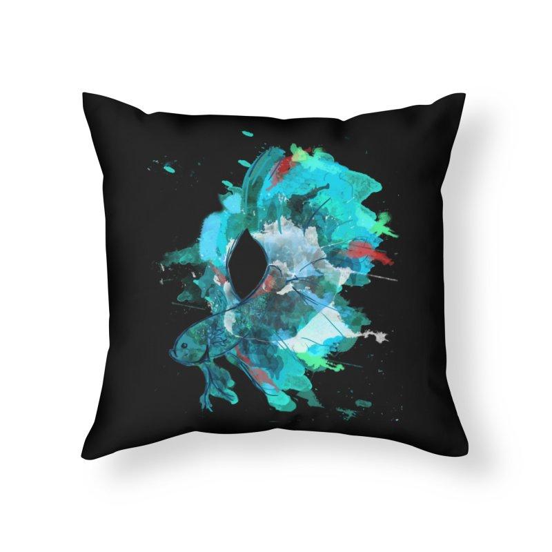 Mr. Betta Home Throw Pillow by The Hidden Squid